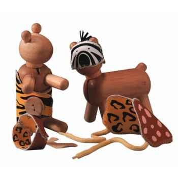 Animaux à habiller en bois - Plan Toys 5151