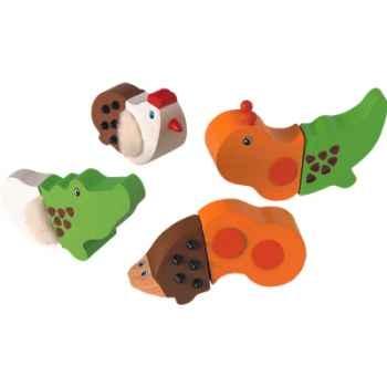 Animaux assortis en bois - Plan Toys 5341