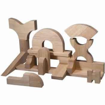 Cube en bois naturel sup en bois - Plan Toys 5529