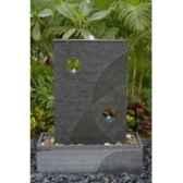 fontaine themis en pierre granit finition polie et striee de coloris gris climadream