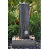 fontaine harmonia en pierre granit finition polie et striee de coloris gris climadream