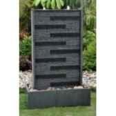 fontaine hera en pierre granit finition polie et striee de coloris gris climadream