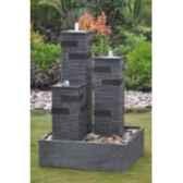 fontaine theia en pierre granit de coloris gris climadream