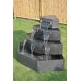 fontaine poseidon en pierre granit de coloris gris climadream