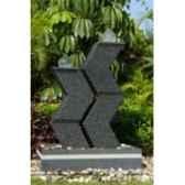 fontaine samoa en pierre granit finition polie et striee de coloris gris climadream