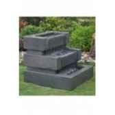 fontaine rhea en pierre granit finition polie et striee de coloris gris climadream