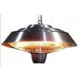 chauffage exterieur et interieur halogene 1500w couleur inox out trade ce10