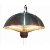 chauffage exterieur et interieur halogene 1500w couleur inox out trade ce11