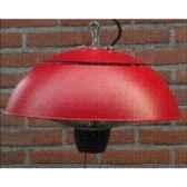 chauffage exterieur halogene 1500w couleur inox et rouge out trade ce11r