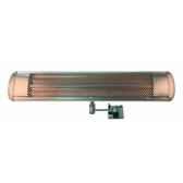 chauffage exterieur et interieur fixation murale carbone et sensor 2400w max couleur aluminium out trade hslw1500