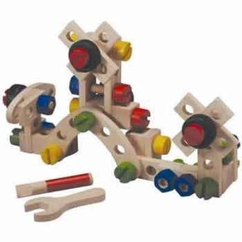 jeu de construction 60 pi ces en bois plan toys 5534. Black Bedroom Furniture Sets. Home Design Ideas
