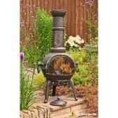 cheminee en fonte d acier sierra large b coloris bronze la hacienda 56016lz