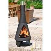 cheminee en acier colorado extra large coloris noir la hacienda 56088b