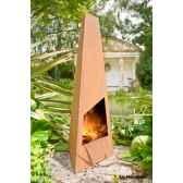 cheminee design en acier corten triga coloris oxyde traitement contre la rouille la hacienda 56073