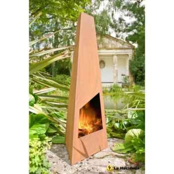 Cheminée design en acier corten triga coloris oxydé (traitement contre la rouille) La Hacienda -56073