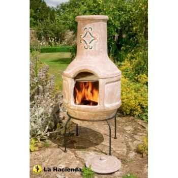 Cheminée en argile et barbecue spanish scroll large coloris pierre La Hacienda -67016Q