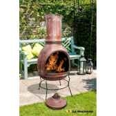 cheminee mexicaine et barbecue en argile mazatlan jumbo coloris raisin rouge la hacienda 65046j