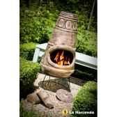 cheminee mexicaine et barbecue en argile circles medium coloris antique la hacienda 65077