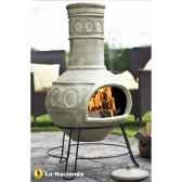 cheminee mexicaine et barbecue en argile jumbo circles coloris pierre la hacienda 65081a
