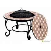 foyer en mosaique barbecue et table napoli coloris mosaique noir la hacienda 58142