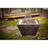 foyer en acier avec galets pescara coloris noir la hacienda 58145