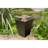 foyer en acier et gride barbecue venezia coloris noir la hacienda 58146