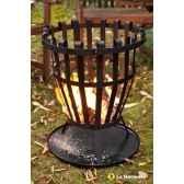 foyer panier en acier ontario coloris noir la hacienda 56039