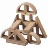 mini blocs en bois natureen bois plan toys 5530