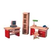 bureau en bois plan toys 7305