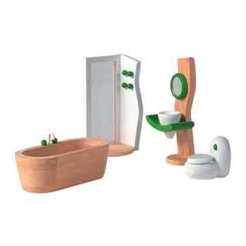 Salle de bains décor moderne en bois - Plan Toys 7441
