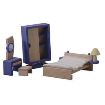 Chambre décor moderne en bois - Plan Toys 7444