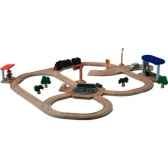 circuit aiguillage rotatif en bois plan toys 6215