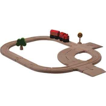 Circuit rail route en bois - Plan Toys 6204