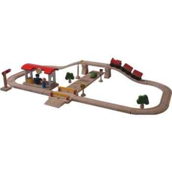 Circuit rail route luxe en bois - Plan Toys 6207