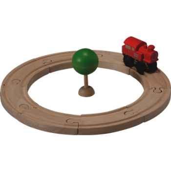 Circuit rail route starter en bois - Plan Toys 6205