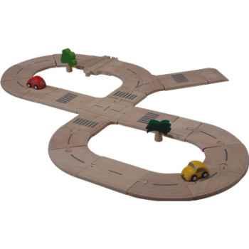 Circuit routier en bois - Plan Toys 6077