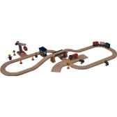 circuit transports marchandises en bois plan toys 6214