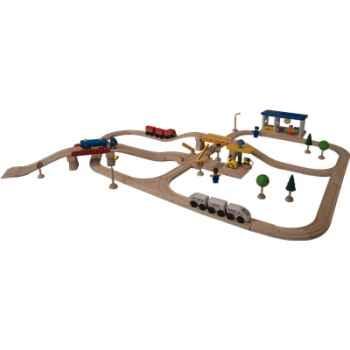 Circuit transports passagers en bois - Plan Toys 6216