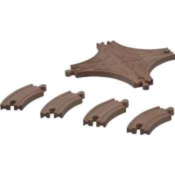 Croisement pour circuit rail en bois - Plan Toys 6222