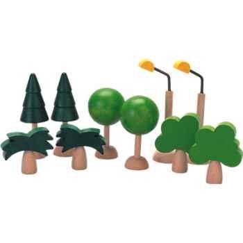 Arbres et lumières en bois - Plan Toys 6008