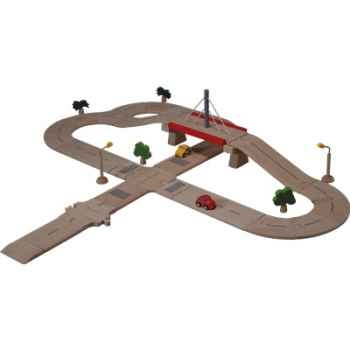 Coffret routier luxe en bois - Plan Toys 6078