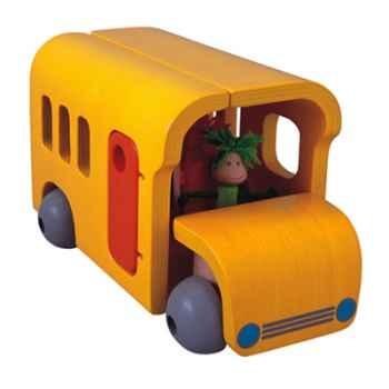 Bus école mobile en bois - Plan Toys 7503