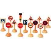 panneaux de signalisation en bois plan toys 6203