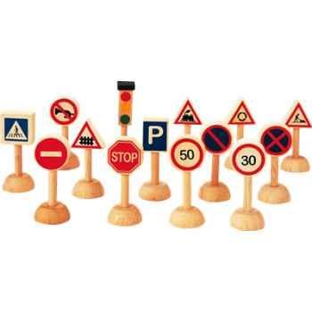 Panneaux de signalisation en bois - Plan Toys 6203