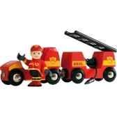 vehicule de pompier son et lumiere brio 33576