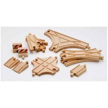 Coffret aiguillages et croisements bois - Brio 33307000