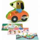 3 puzzles en bois 456 pcs melusine boite fangio le chien vilac 4611