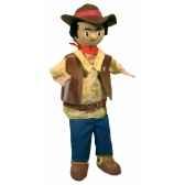 marionnette a main cow boy au sycomore ma35029