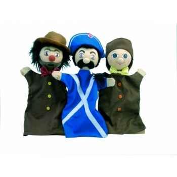 Coffret marionnette trio marionnettes guignol Au Sycomore -MAST302