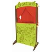 theatre de marionnette bois et tissu au sycomore mth3502